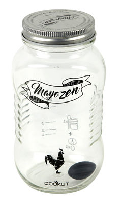 Image of Agitatore per cocktail Mayozen - / Per maionese fatta in casa di Cookut - Nero,Argento,Trasparente - Vetro