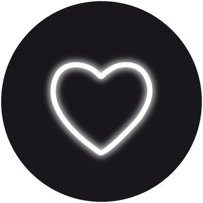 Applique avec prise Neon Art / Symbole Cœur - Seletti blanc en verre