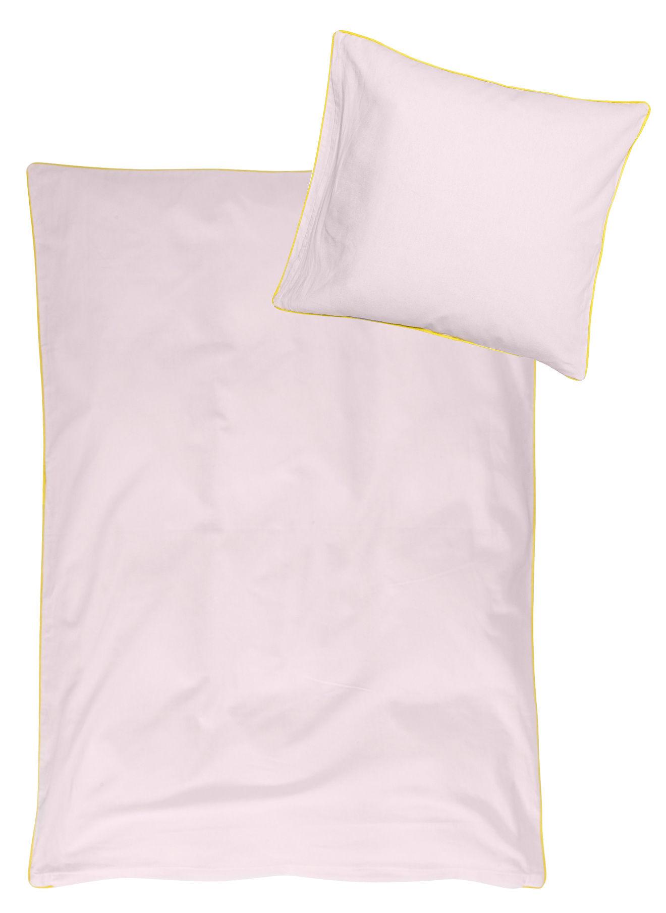 liva bettw sche f r kinderbett 100 x 140 cm 100 x 140 cm wei mit rosa p nktchen gelber. Black Bedroom Furniture Sets. Home Design Ideas