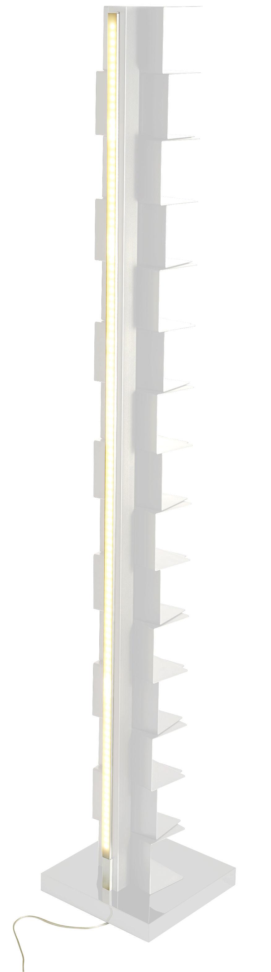 Mobilier - Etagères & bibliothèques - Bibliothèque lumineuse Ptolomeo Luce / LED - H 215 cm - Opinion Ciatti - Blanc - Acier laqué