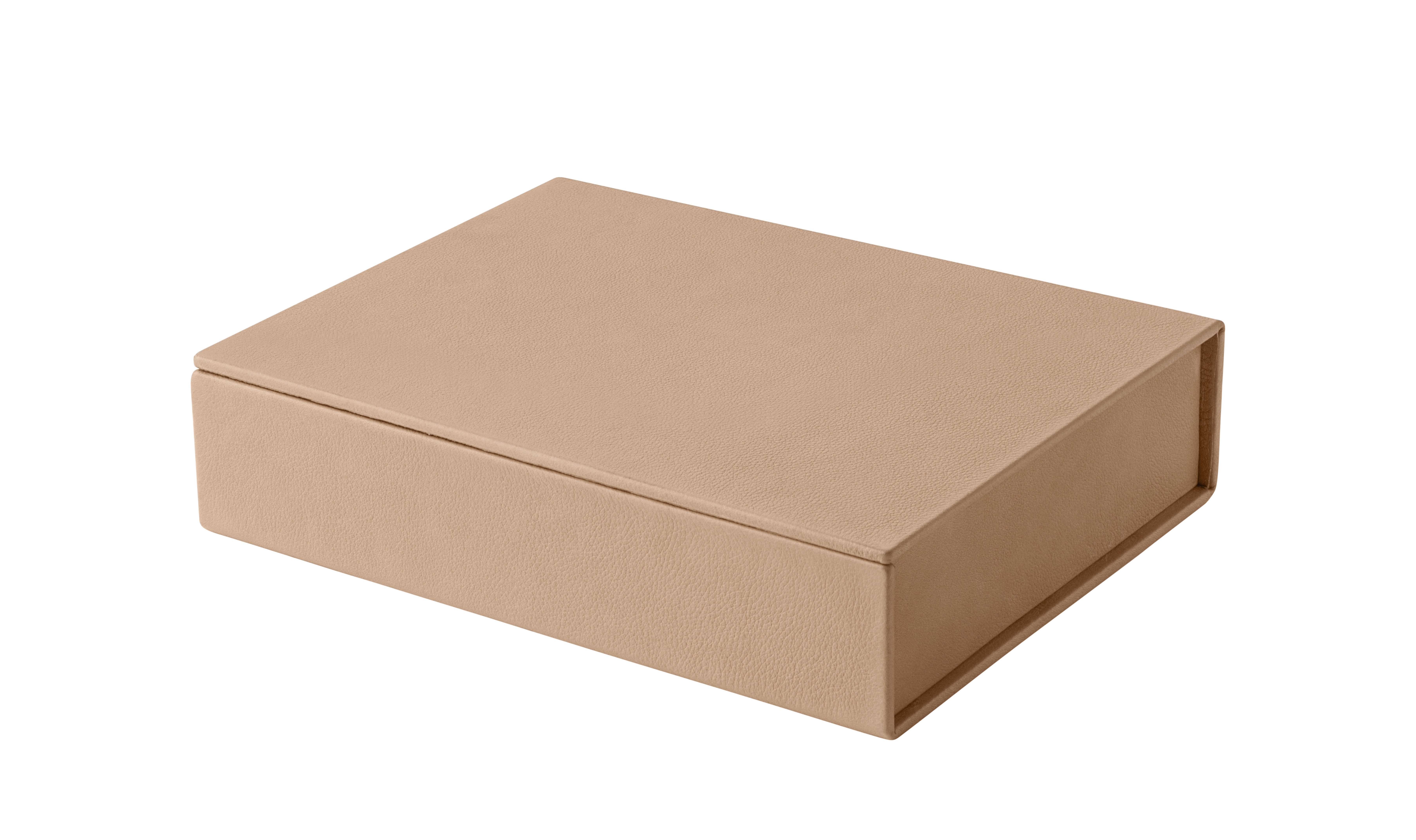 Decoration - Decorative Boxes - Small Box - / Leather - Hand-made - Limited numbered edition by Fritz Hansen - Natural - Linen, Recycled leather