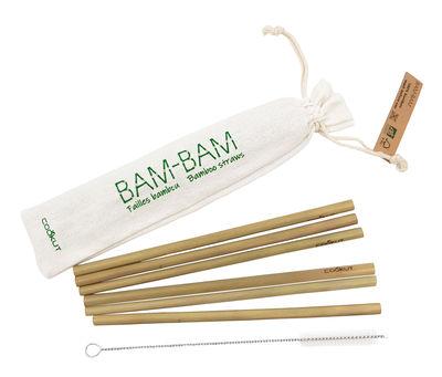 Image of Cannuccia riutilizzabile Bam Bam - / Set 6 cannucce bambù + 1 scovolino di Cookut - Bambù - Legno