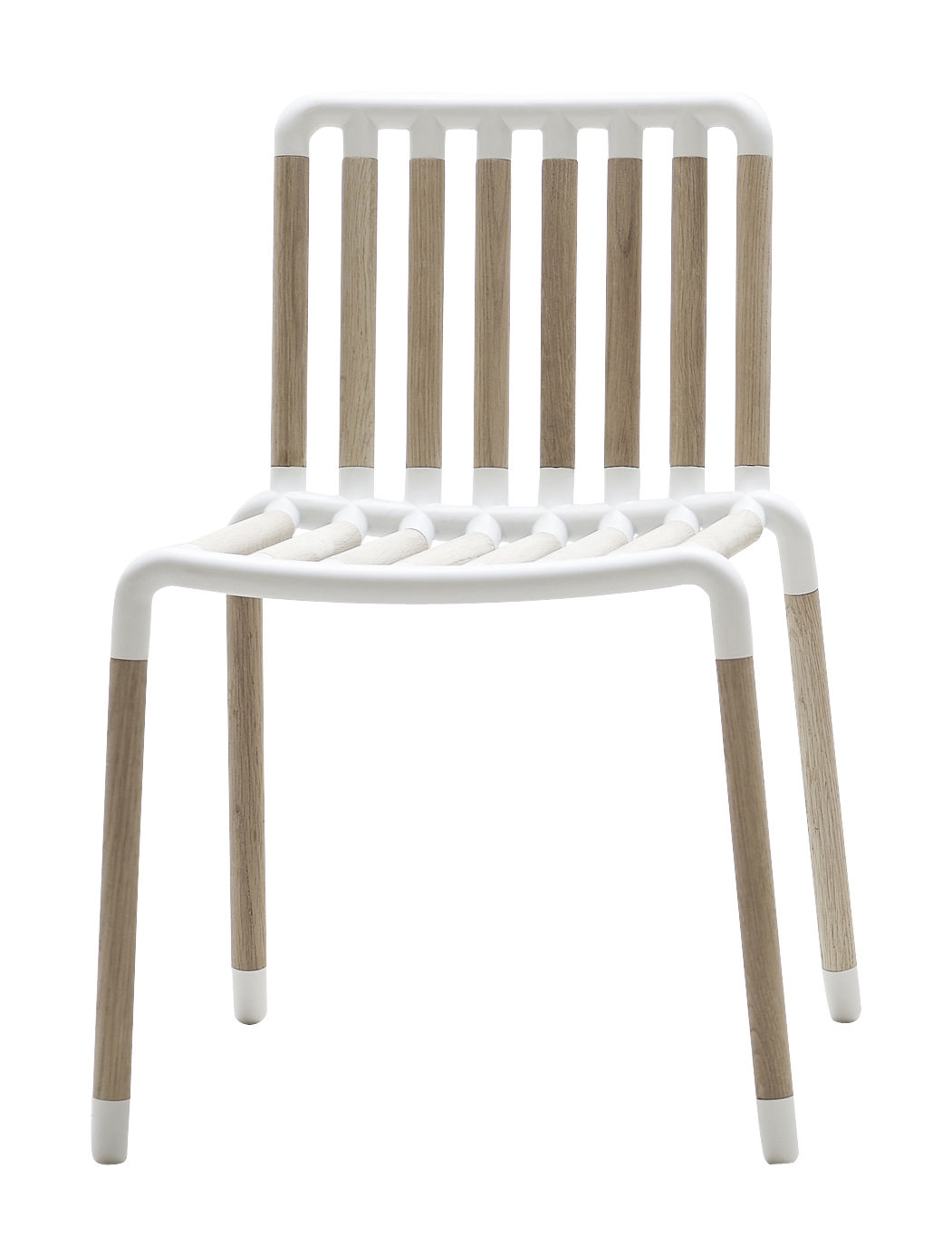 Furniture - Chairs - Tube Chair Chair by Hay - Natural wood / White - Lacquered aluminium, Oak
