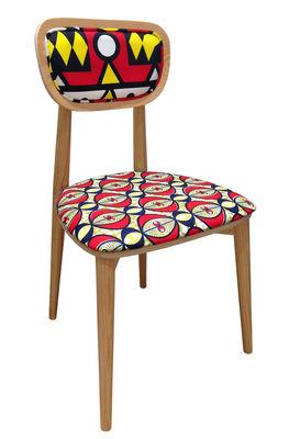 Mobilier - Chaises, fauteuils de salle à manger - Chaise rembourrée Wax going on / n°4 - Dalia - Sandrine Alouf Atmospheriste - Dalia - Mousse, Pin multiplis, Tissu