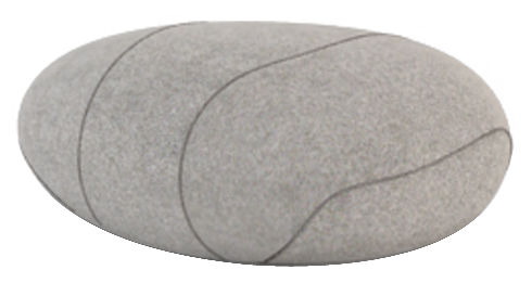 Mobilier - Mobilier Ados - Coussin Xavier Livingstones / Laine - 50x40 cm - Smarin - Gris clair - 50 x 40 cm / H 26 cm - Fibres poly-siliconées, Laine