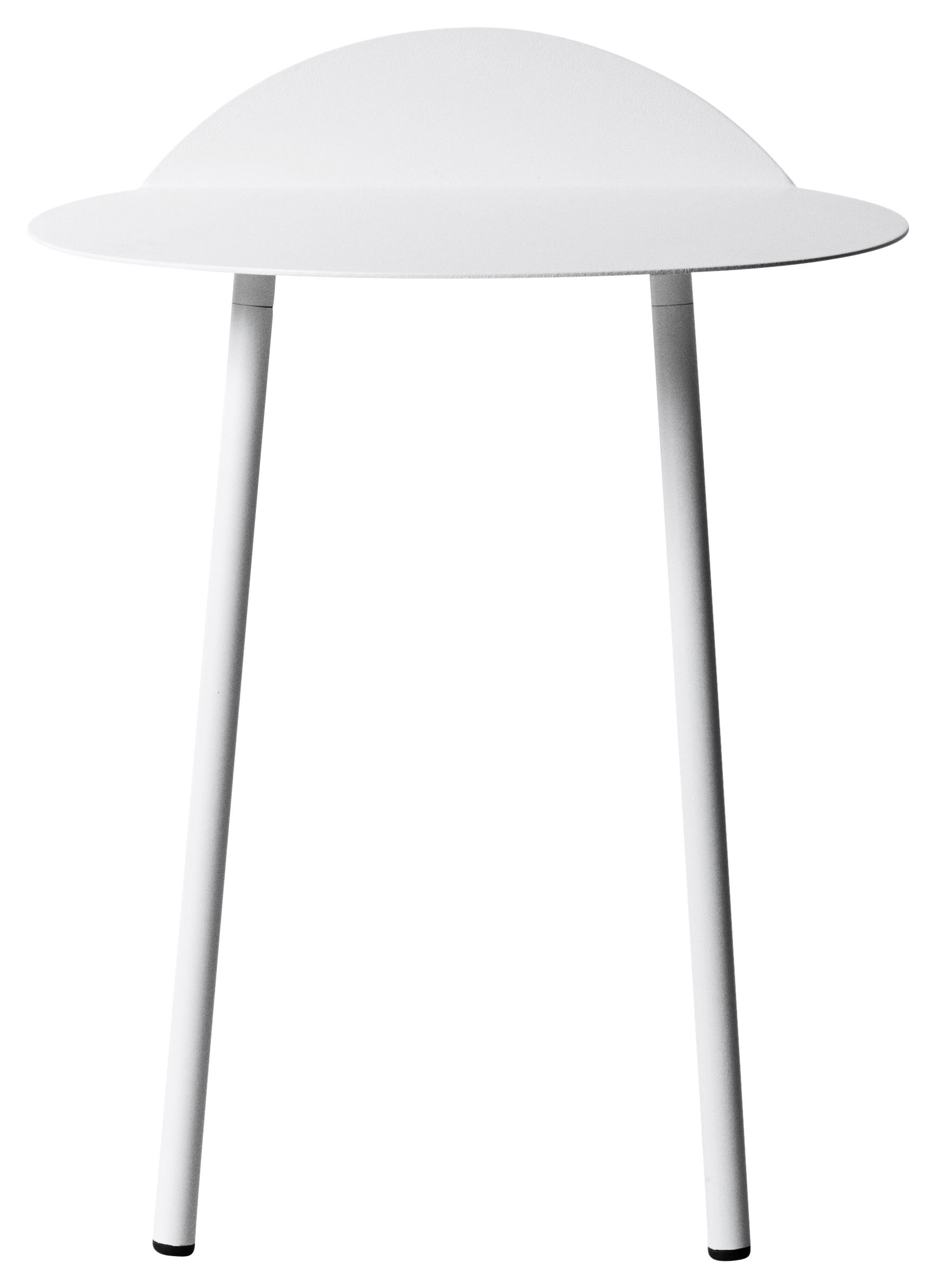 Furniture - Coffee Tables - Yeh Wall End table - H 45 cm by Menu - White - Lacquered steel