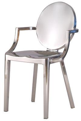 Mobilier - Chaises, fauteuils de salle à manger - Fauteuil Kong / Aluminium - Emeco - Aluminium poli - Aluminium poli recyclé