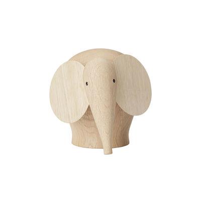 Déco - Pour les enfants - Figurine Nunu MEDIUM / Eléphant - L 20 cm - Woud - Eléphant / Chêne - Chêne massif