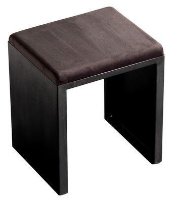 Möbel - Hocker - Irony Hocker - Zeus - Schwarz - Leder, phosphatierter Stahl