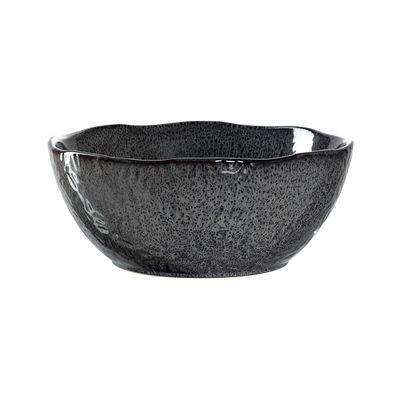 Tavola - Ciotole - Insalatiera Matera - / Gres - Ø 23 cm di Leonardo - Antracite - Gres smaltato