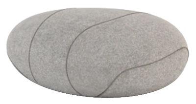 Möbel - Möbel für Teens - Xavier Livingstones Kissen Wolle / für den Inneneinsatz - 50 x 40 cm - Smarin - Hellgrau - 50 x 40 cm / H 26 cm - Polysilikon-Faser, Wolle