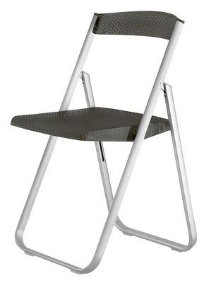 Möbel - Stühle  - Honeycomb Klappstuhl - Kartell - Rauch - eloxiertes Aluminium, Polykarbonat