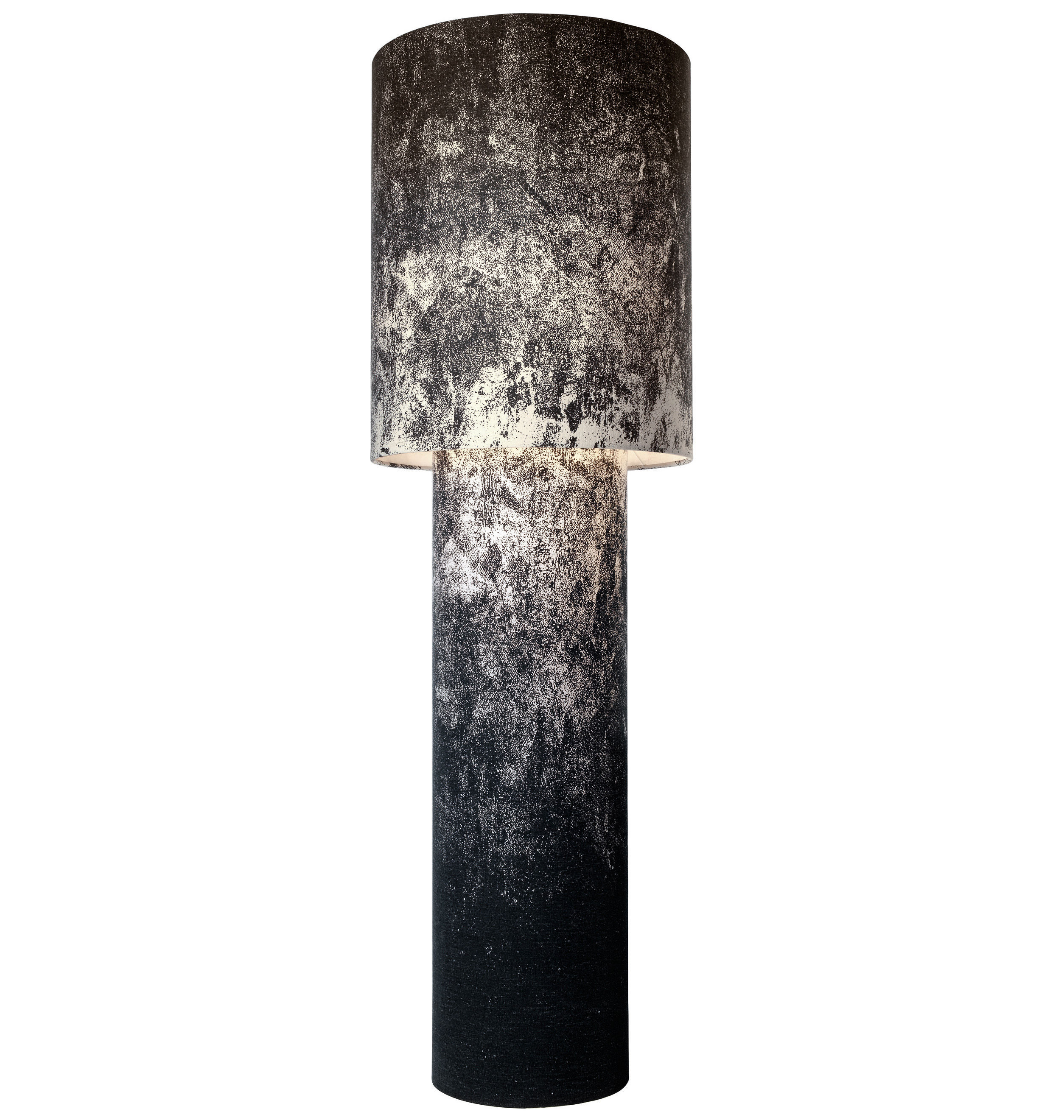 Illuminazione - Lampade da terra - Lampada a stelo Pipe - Grande H 183 cm di Diesel with Foscarini - Nero - Metallo, Tessuto