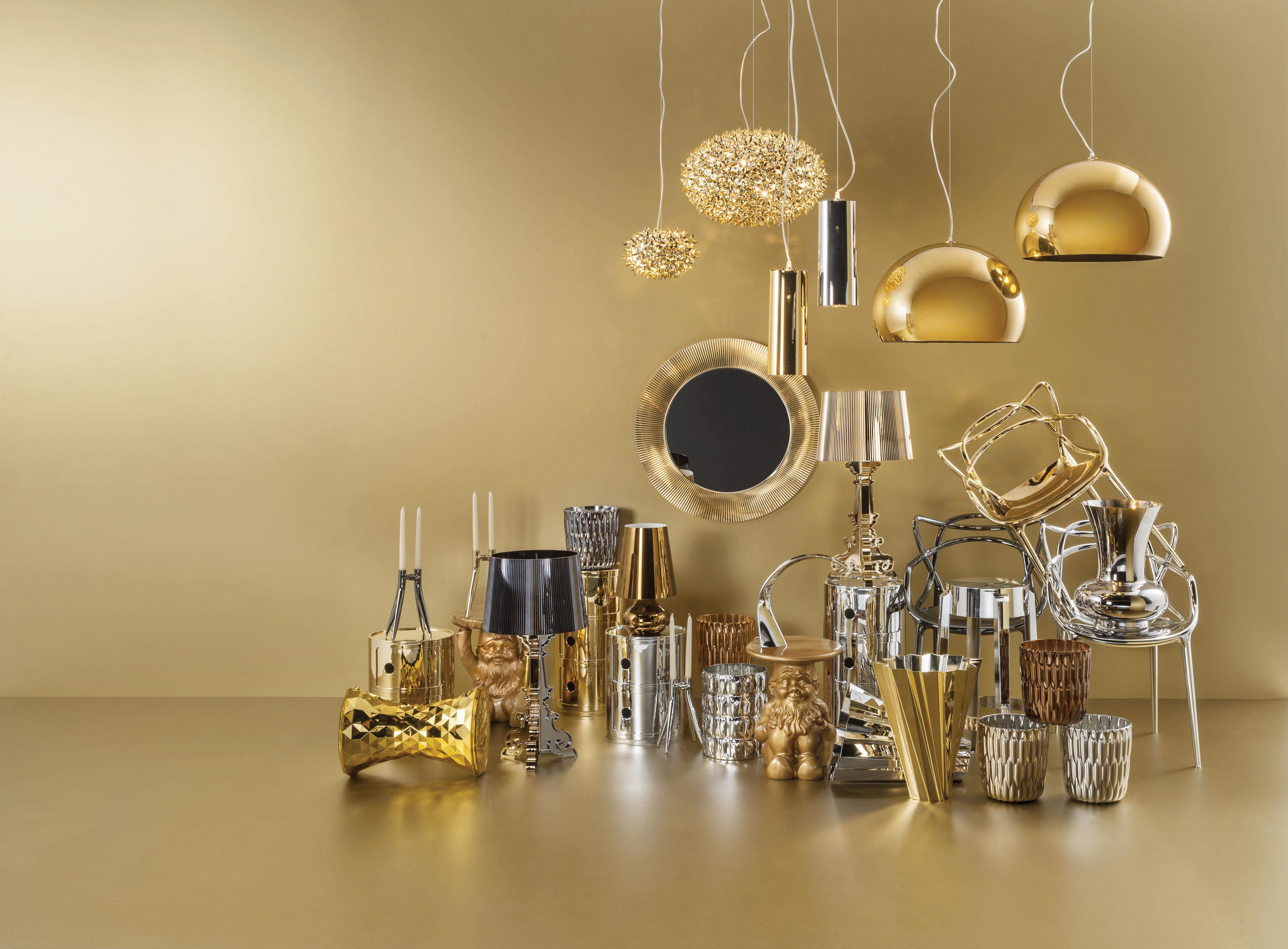 lampe de table bourgie kartell cuivre 37 made in design. Black Bedroom Furniture Sets. Home Design Ideas