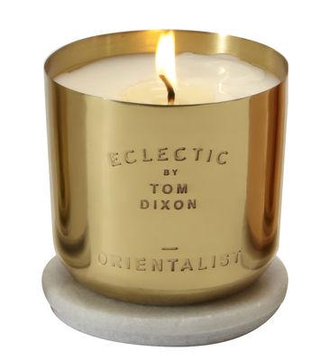 Dekoration - Kerzen, Kerzenleuchter und Windlichter - Scent Orientalist Duftkerze - Eclectic by Tom Dixon - Orientalist / goldfarben - Marmor, Messing