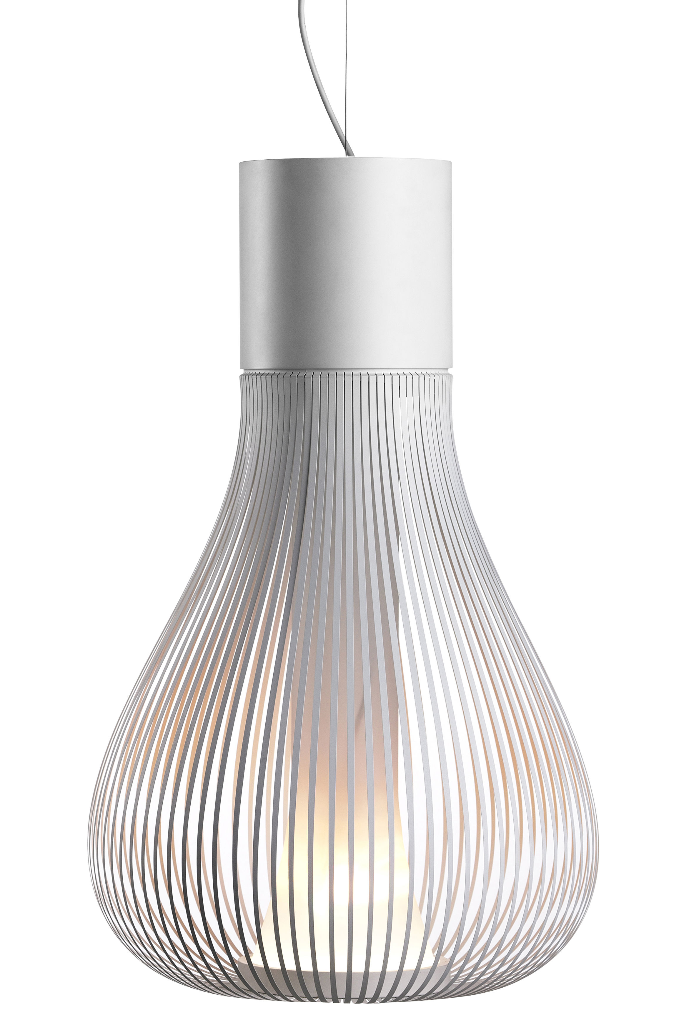 Lighting - Pendant Lighting - Chasen S2 Pendant - Modular by Flos - White - Stainless steel