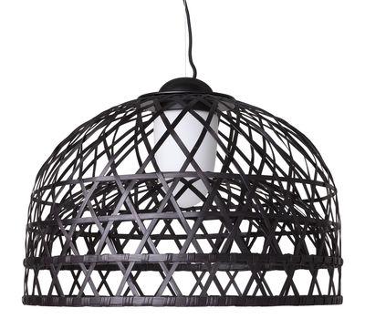 Lighting - Pendant Lighting - Emperor Pendant - Small by Moooi - Ø 60 cm - Black - Aluminium, Rattan