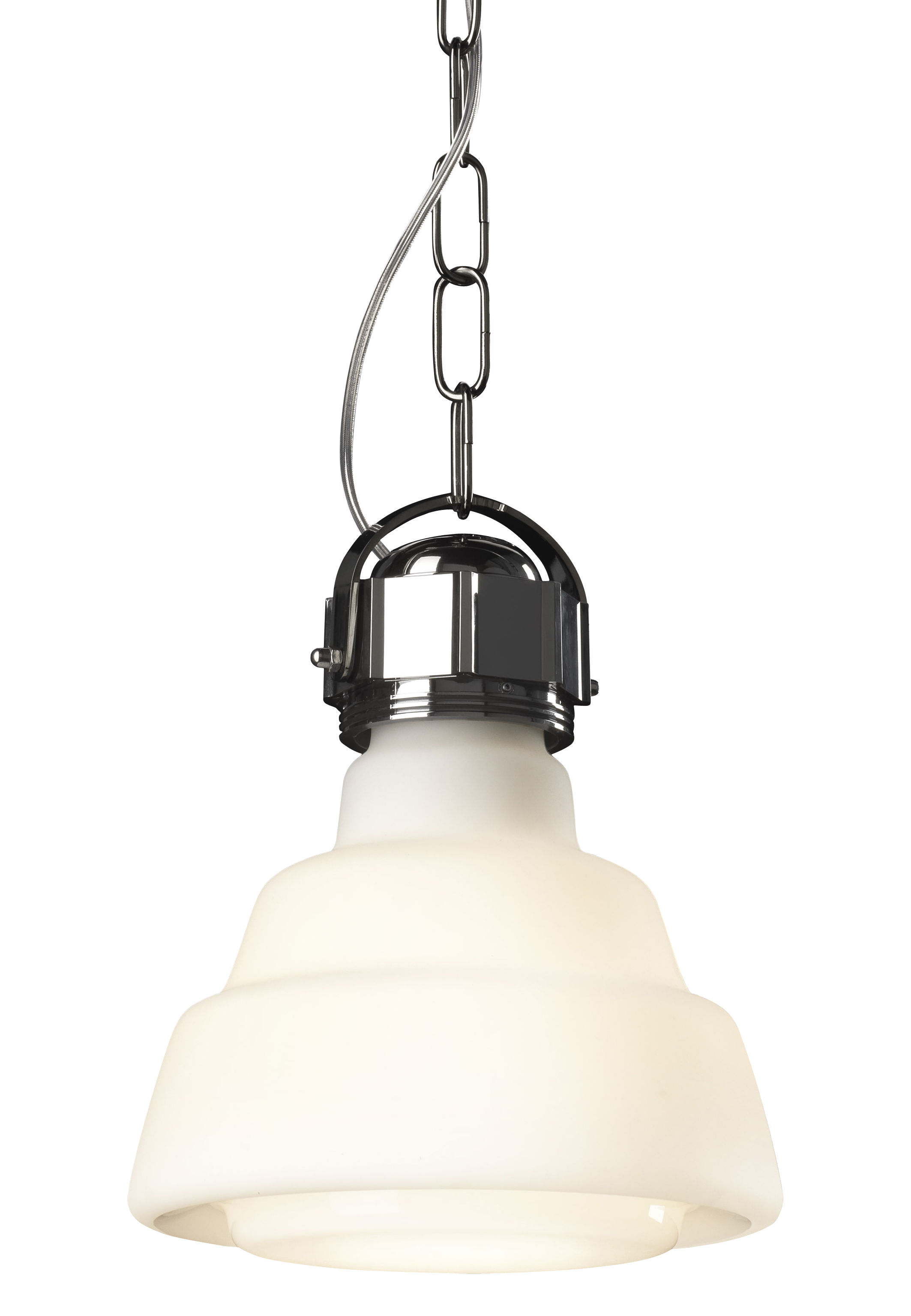 Lighting - Pendant Lighting - Glas Pendant by Diesel with Foscarini - White - Blown glass, Chromed metal