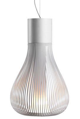 Leuchten - Pendelleuchten - Chasen S2 Pendelleuchte modular - Flos - Weiß - rostfreier Stahl