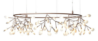 Heracleum Small Big O Pendelleuchte / LED - Ø 160 cm - Moooi - Weiß,Kupfer