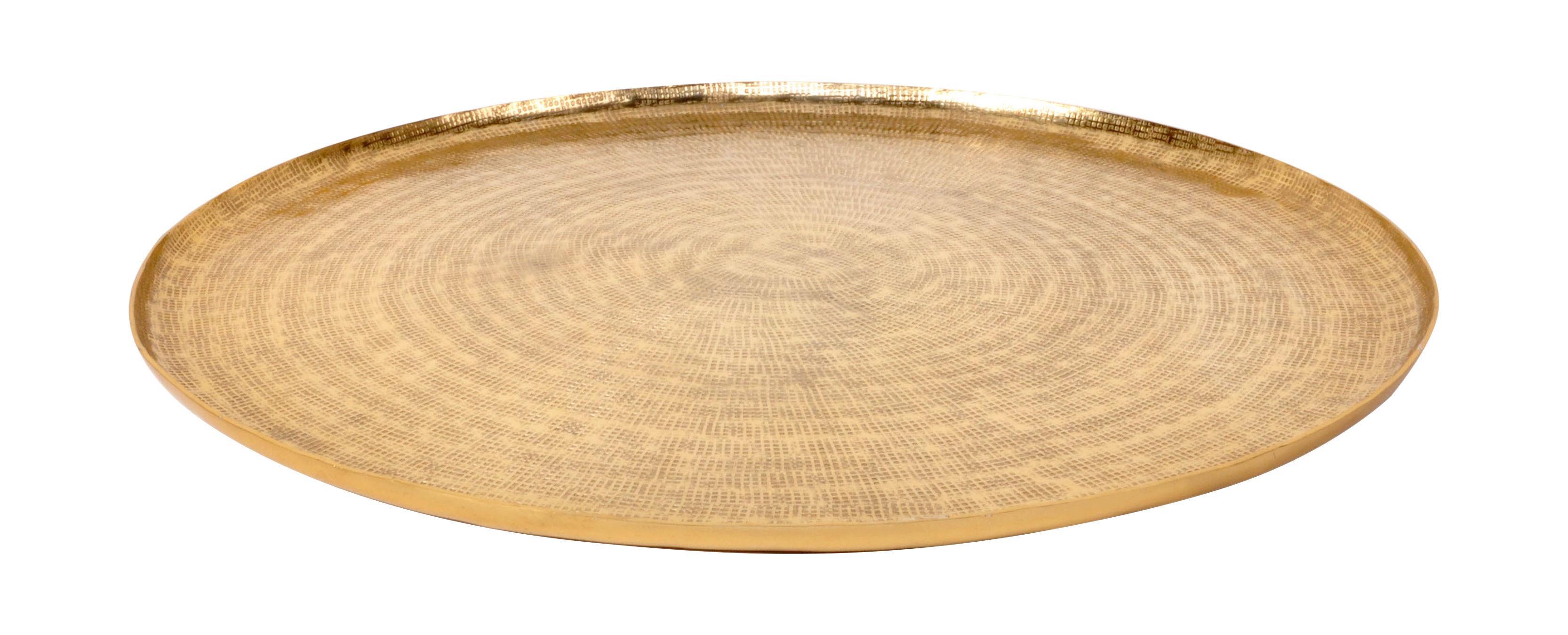 Arts de la table - Plateaux - Plateau Bali / Ø 37 cm - Métal - XL Boom - Laiton - Aluminium plaqué