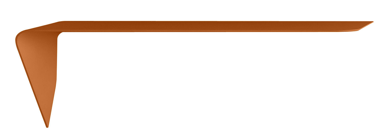 Möbel - Regale und Bücherregale - Mamba light Regal / Wandschreibtisch - Winkel links - L 134 cm x H 44 cm - MDF Italia - Orange - Fibre de bois