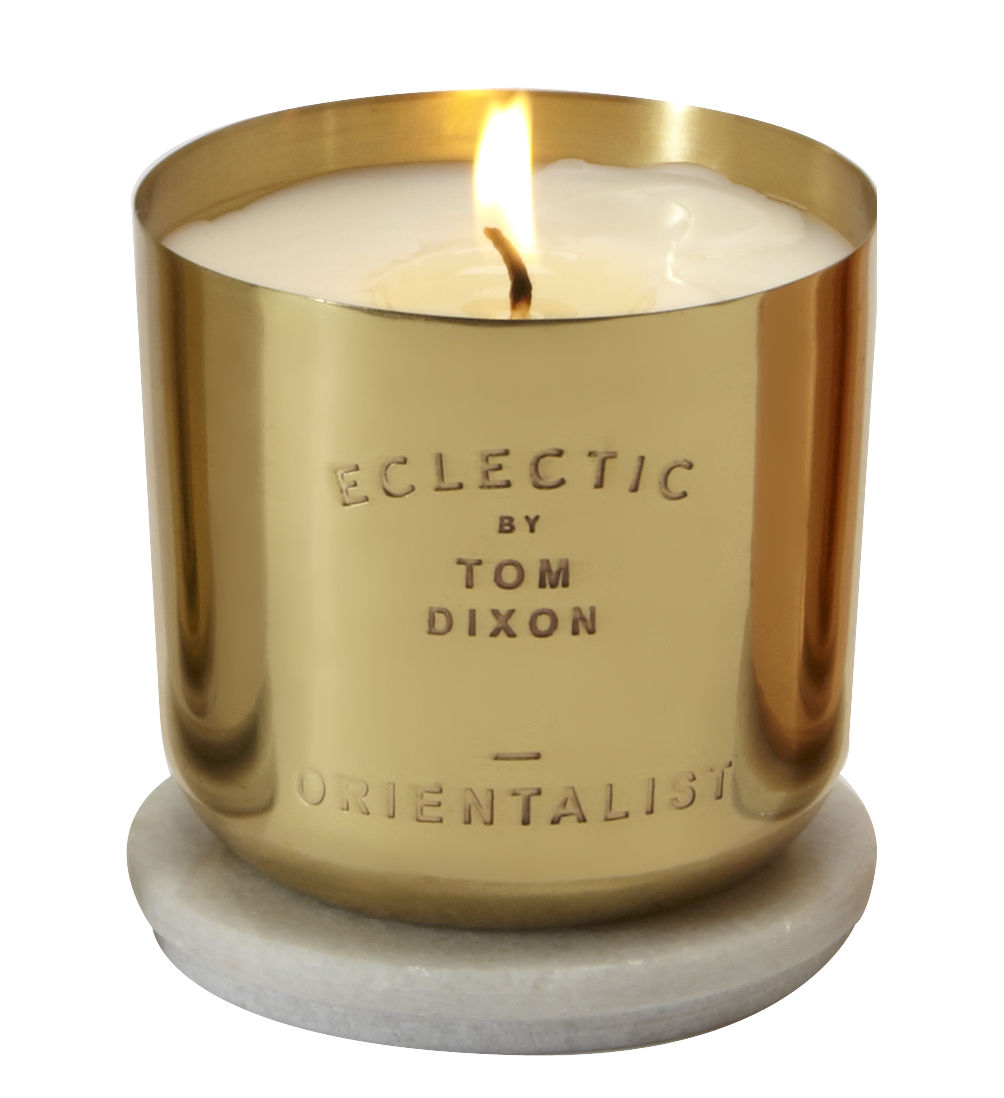 Decoration - Candles & Candle Holders - Scent Orientalist Scented candle by Tom Dixon - Orientalist / Gold - Brass, Marble