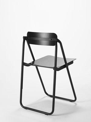 Sedie Pieghevoli Con Contenitore.Sedia Pieghevole Con Fort Di Opinion Ciatti Nero Made In Design