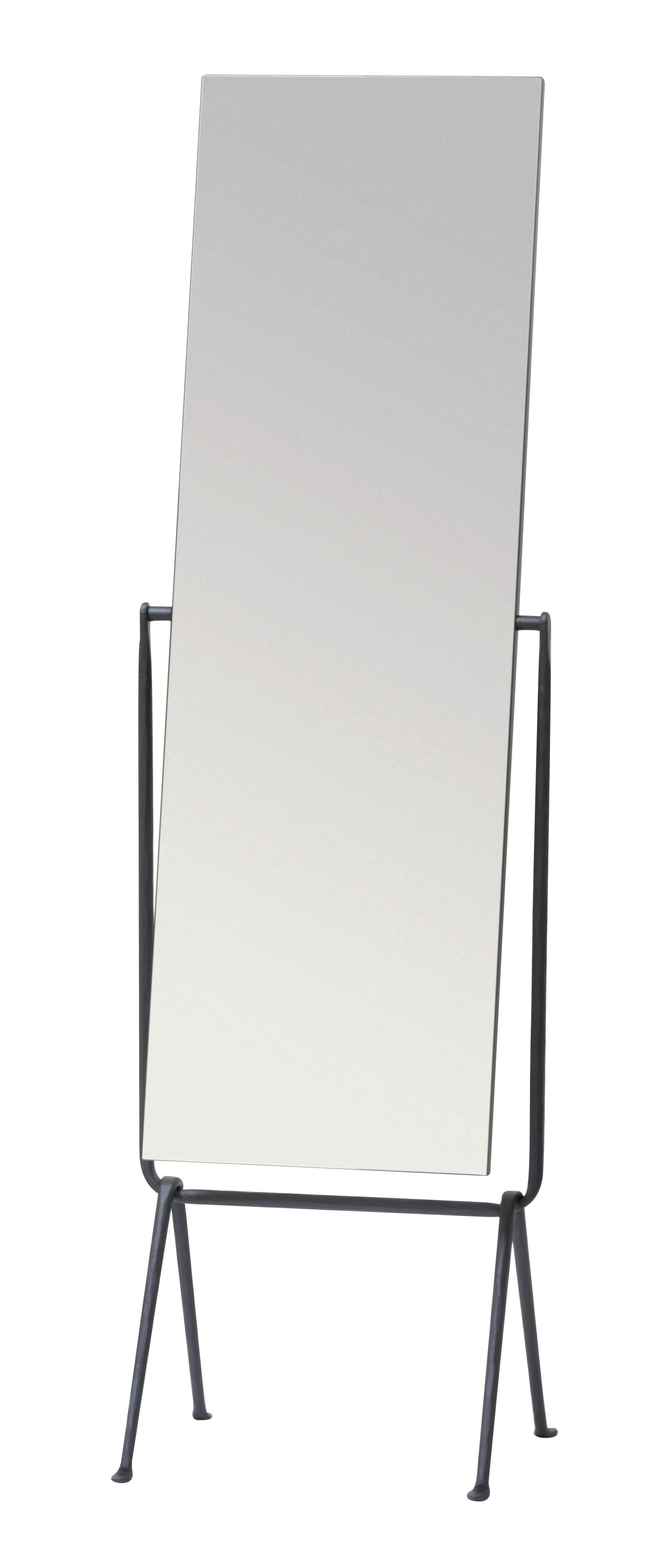 Interni - Specchi - Specchio da terra Officina - / Ferro battuto - Inclinabile di Magis - Nero - Ferro battuto verniciato, Vetro