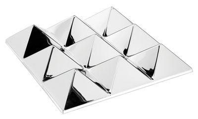 Arredamento - Specchi - Specchio murale Sculptures - / 9 piramidi - Panton 1965 di Verpan - 9 piramidi - Argento / Specchio - PMMA