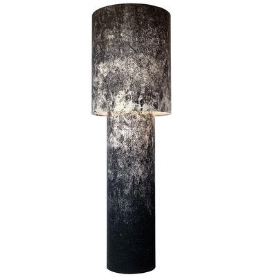 Leuchten - Stehleuchten - Pipe Stehleuchte Größe L / H 183 cm - Diesel with Foscarini - Schwarz (per Siebdruckverfahren bedruckt) - Gewebe, Metall