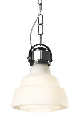 Luminaire - Suspensions - Suspension Glas / Ø 22 cm - Diesel with Foscarini - Blanc - Métal chromé, Verre soufflé