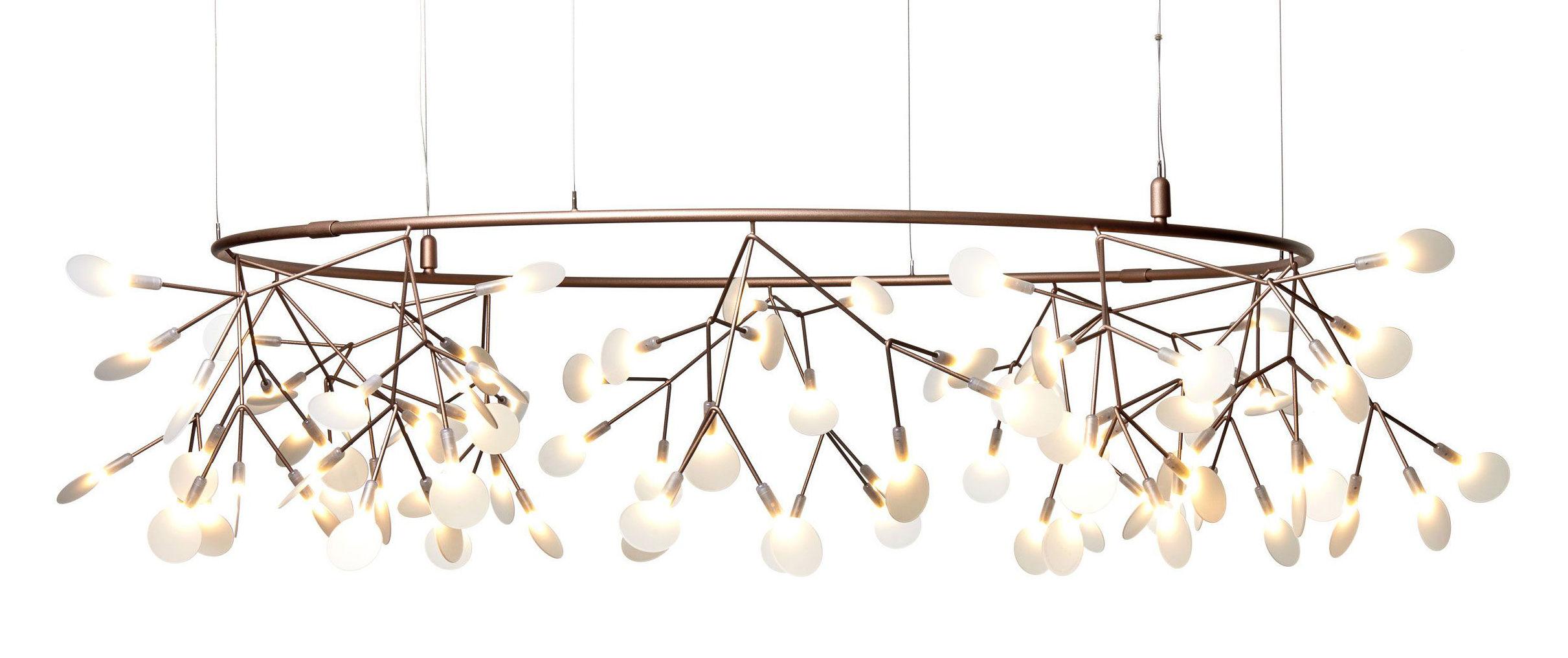 Luminaire - Suspensions - Suspension Heracleum Small Big O / LED - Ø 160 cm - Moooi - Cuivre - Acier inoxydable, Métal, Polycarbonate