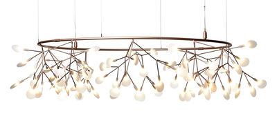 Luminaire - Suspensions - Suspension Heracleum The Big O / Small - Ø 160 cm / LED - Moooi - Cuivre - Acier inoxydable, Métal, Polycarbonate