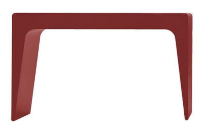 Table basse CU Large / Tabouret - L 65 cm - Kristalia rouge en matière plastique