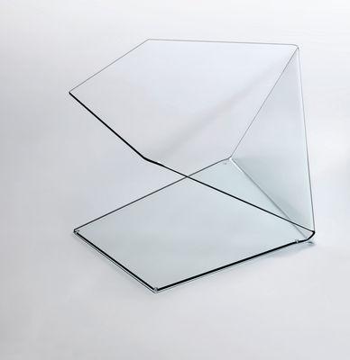Table basse Harold et Maude modèle 1 - Glas Italia transparent en verre