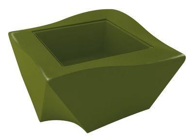 Table basse Kami Ni version laquée - Slide laqué vert en verre