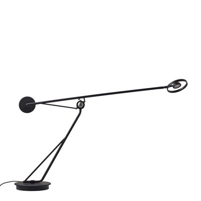 Lighting - Table Lamps - Aaro LED Table lamp - / Mobile arm by DCW éditions - Black - Anodized aluminium, Steel