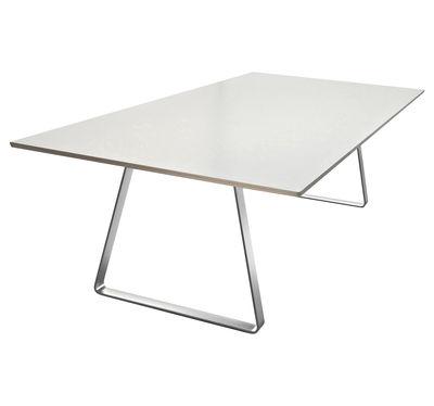 Mobilier - Tables - Table Mutka / 280 x 110 cm - Lapalma - Laminé blanc - Acier inoxydable, Laminé
