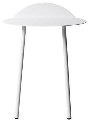 Arredamento - Tavolini  - Tavolino d'appoggio Yeh Wall - / H 52,5 cm di Menu - Bianco - Acciaio laccato
