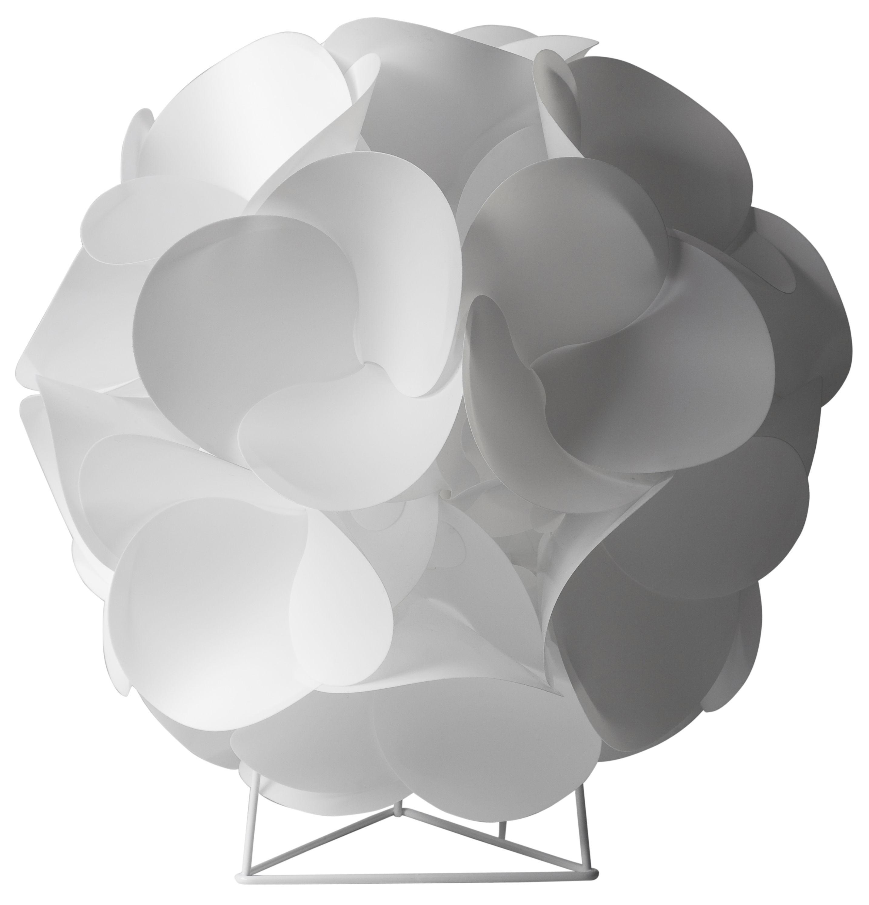 Leuchten - Tischleuchten - Radiolaire Tischleuchte Tischlampe - Designheure - Weiß - Polykarbonat, Stahl