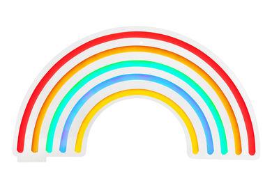 Applique avec prise Neon Arc-en-ciel Large / LED - L 60 cm - Sunnylife multicolore en verre