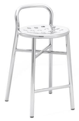 Furniture - Bar Stools - Pipe Bar stool - H 67 cm - Metal by Magis - Polished aluminium - Polished aluminium, Polished steel