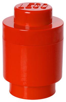 Déco - Pour les enfants - Boîte Lego® Brick Round / 1 plot - Empilable - ROOM COPENHAGEN - Rouge - Polypropylène