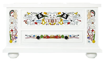 Furniture - Shelves & Storage Furniture - Altdeutsche Box - Hand decorated by Moooi - White / Multicolor - Solid pine