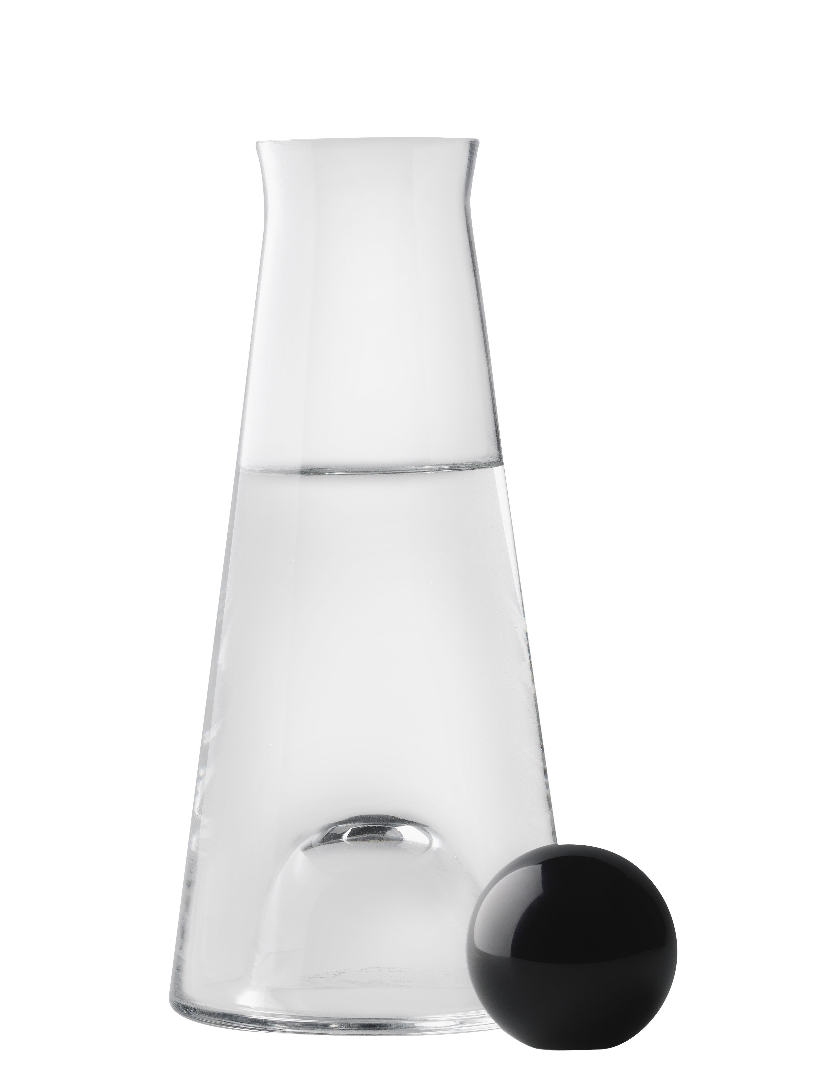 Tableware - Water Carafes & Wine Decanters - Fia Carafe - 1 L by Design House Stockholm - Clear / Black - Cristal, Glass