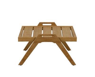 Furniture - Coffee Tables - Synthesis Coffee table - / 55 x 57 cm - Teak by Unopiu - Teak - Teak