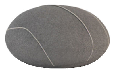 Coussin Hervé Livingstones / Laine - 41x36 cm - Smarin gris foncé en tissu