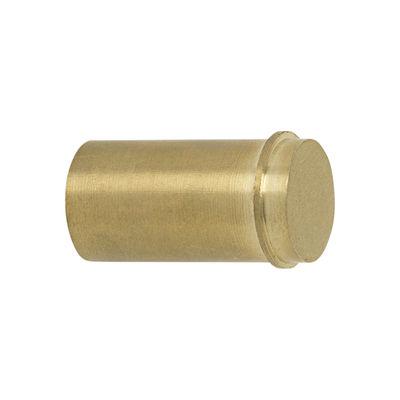 Furniture - Coat Racks & Pegs - Métal Small Hook - / Handle - Ø 2 cm by Ferm Living - Golden brass - Brass