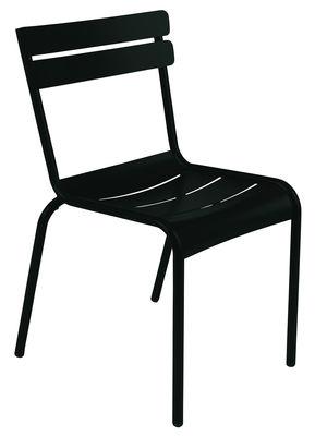 Möbel - Möbel für Kinder - Luxembourg kid Kinderstuhl - Fermob - Lakritz - lackiertes Aluminium